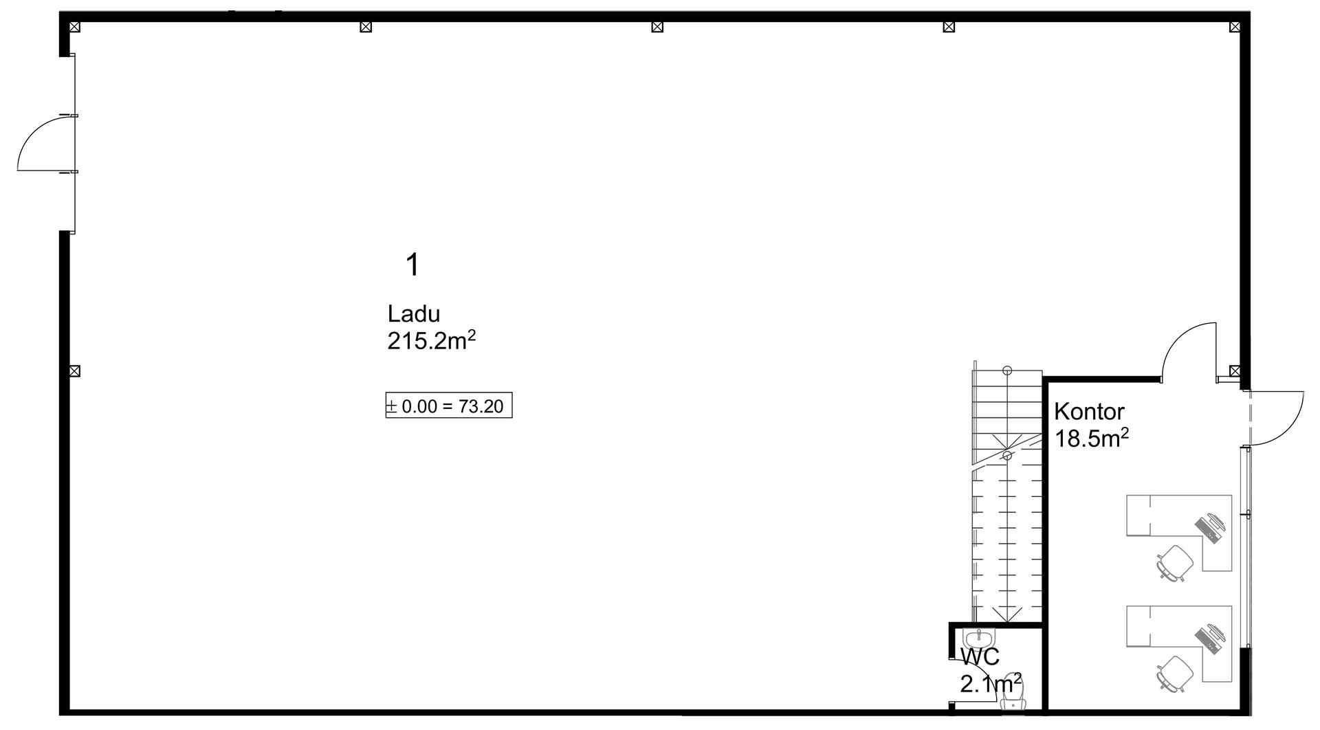 Rendi-X ladu 1 esimene korrus
